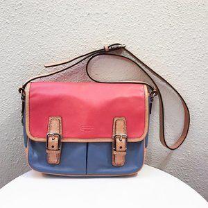 Coach Park colorblock leather crossbody purse